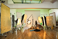 Fashion Photography - My studio's panorama view - Inder Gopal Advertising . Fashion . Food & Beverages . Industrial . Products .Ecommerce . Model Portfolio Development . Fine Art Nude Figure Photography
